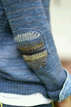 Ravelry: Madewell sweater knitting pattern by Joji Locatelli Stitch Patterns, Knitting Patterns, Crochet Patterns, Knitting Wool, Visible Mending, Make Do And Mend, How To Purl Knit, Darning, Pulls