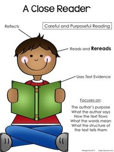 CLOSE READING ~ CLOSE READER POSTER ~ COMMON CORE - TeachersPayTeachers.com