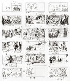 Storyboard by Vitali Konstantinov – for 'Seis Barbudos / Six Bearded Men' (written by Mar Pavón)