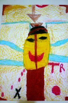 """""""Juego de memoria"""" basado en una obra de Xul Solar. óleo pastel. Francisco G."""