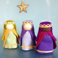 One of a Kind HeartfeltDolls Original THIS LISTING IS FOR 7 NATIVITY DOLLS and BABY JESUS IN A LITTLE FELT BASKET The dolls stand about 9cms tall (3.5inches approx) They are perfect for retelling the story of Advent or just as a wonderful addition to you Christmas decoration Little Diy Nativity, Nativity Ornaments, Christmas Nativity, Nativity Stable, Christmas Crafts, Christmas Decorations, Christmas Ornaments, Childrens Christmas, Christmas Baby