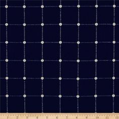 Waverly Geo Metrics Indigo from @fabricdotcom  Refresh and modernize any home decor with this medium/heavyweight duck fabric. It has the unique jacquard weaving process, which creates a plaid design. This fabric is an appropriate weight for accent pillows, slipcovers and upholstering furniture, headboards and ottomans. Colors include navy and white.