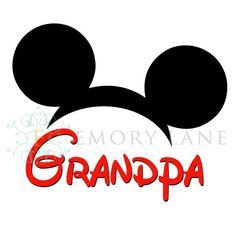 Mickey Mouse Printable with Grandpa Instant by EmoryLaneStudios, $3.75