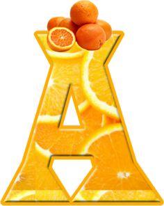 Alfabeto de naranjas.