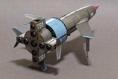 Aoshima's 1/144 scale Thunderbird 1 Bruce Salmon Thunderbird 1, Thunderbirds Are Go, White Spirit, Sci Fi Models, Landing Gear, Black Lamps, Easy Paintings, Scale Models, Hero