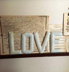 LOVE Letters Alphabet Valentine Wall Word Art Ivory by GardenBarn