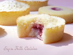 palets moelleux citron-framboise Thermomix Desserts, Köstliche Desserts, Delicious Desserts, Yummy Food, Sweet Recipes, Cake Recipes, Dessert Recipes, Mini Cakes, Cupcake Cakes
