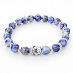 Ocean Blue Crystal Beaded Sudarshana Bracelet