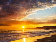 Santa Monica's Sunset Sky | Discover Los Angeles @Santa Monica, California