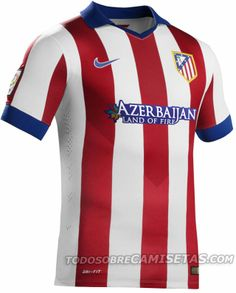 The Atlético Home Shirt features a classical kit design. The Atlético  Madrid Away Shirt features different shades of gray and red ... d47e046e4