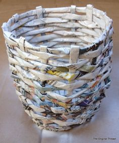 simple crafts making: news paper bowl making.....