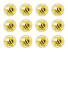 Bee Theme Printables - free- easy link - place cards/thank u cards/gift tags, etc-  very cute