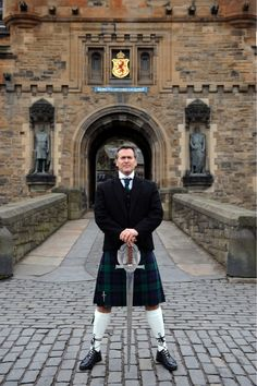 Bruce Campbell - He's holding the Highlander sword, in Clan Campbell tartan, before the statues of Robert the Bruce and William Wallace at Edinburgh Castle.  Your argument is invalid.
