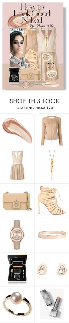 """Nude is the New Black"" by daintychic ❤ liked on Polyvore featuring beauty, Charlotte Tilbury, Industrie, Drome, Dsquared2, Carrera y Carrera, Alexander McQueen, Francesco Russo, Burberry and Lana Jewelry"