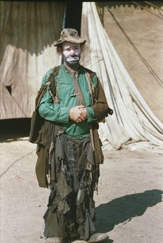"""Emmett Kelly - """"Weary Willie"""", was a revolutionary circus performer who based his act on the """"hobo's"""" of the depression - it took him many years to persuade the management to allow him to introduce the hobo face"""
