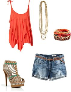 a day in the sun, created by destinyreeds on Polyvore