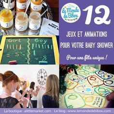 jeux et animations baby shower