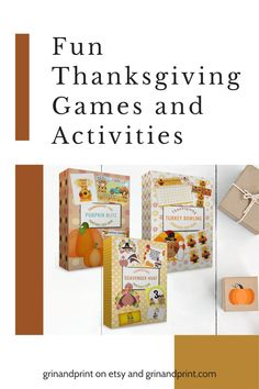 If you need some fun Thanksgiving Ideas then these 3 Games will be perfect for a fun evening after dinner!  Fun Thanksgiving Activities for Kids and Families that you print from home will make this years Thanksgiving super easy to plan. #thanksgiving #thanksgivinggames #thanksgivingkids #turkey