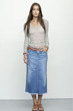 2a5af0df90 A denim skirt looks good with everything. Be inspired and shop here: http: