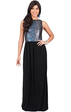 a6393a7d1e583 KOH KOH Plus Size Womens Long Sleeveless Party Cocktail Special Evening  Gown Maxi Dress Color Silver · Casual GownsParty ...
