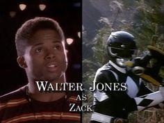 Walter Jones as Zack - Mighty Morphin Power Rangers Zack Power Rangers, Power Rangers Season 1, Power Rangers Morph, Mighty Morphin Power Rangers, Walter Jones, Opening Credits, Fire Emblem Awakening, Twilight Princess, Princess Zelda