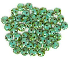 Czech Mates Lentil 6mm : Opaque Turquoise, 50pc | Beads | Prima Bead #DIY #craft #jewelry #bead