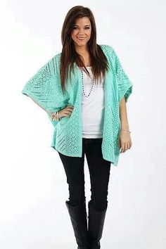 Love this cardigan!  The color is awesome!  #mint