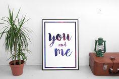 Un favorito personal de mi tienda Etsy https://www.etsy.com/es/listing/399553887/you-and-me-lamina-digital-print