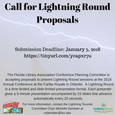 Call for Lightning Round Proposals! #FLACON2018