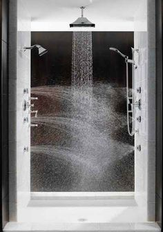 A multi-directional steam shower would do your body good. | 43 Insanely Cool Remodeling Ideas For Your Home