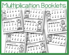 Multiplication Fact Booklets - Free printables to practice multiplication facts