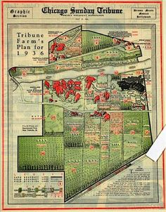 My how times have changed:  1936 chicago sunday tribune farm plan. PROGRESS: CHICAGO: Now the murder capitol of the country
