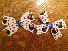 4th of July Mickey mouse hair bows. https://www.etsy.com/listing/230910231/set-of-2-fourth-of-july-mickey-mouse?ref=listing-shop-header-0