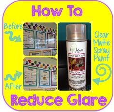 Common Core and So Much More: How To: Reduce Poster Glare