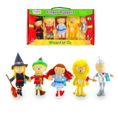 Fiesta Crafts - Wizard of Oz Finger Puppet Set - M LOVES imaginative play. These Wizard of Oz Finger Puppets are just too CUTE! Hand Puppets, Finger Puppets, New Wizard Of Oz, Christmas Wishes, Christmas Ornaments, Toys Online, Toy Craft, Imaginative Play, Baby Gifts