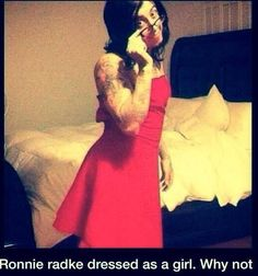 Falling In Reverse ~ Ronnie Radke. My sister loves them and would appreciate this greatly.