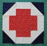 Double Nickel Quilts: Nickel Churn Dash and Greek Cross quilt block tutorial 2 of 2