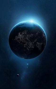 Night side of Earth. Is it not Beautiful,& all it's living things replenished for the next Gen' to see, a lovely Ark But we are not taking care of it. Home *****.