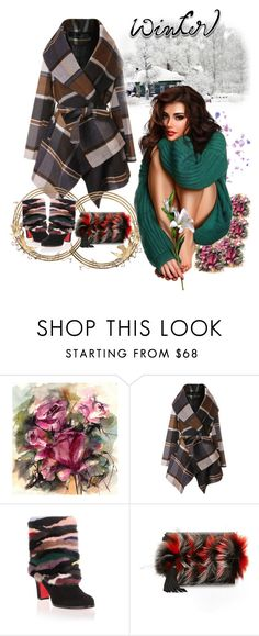 """""""Winter"""" by aida-ida ❤ liked on Polyvore featuring interior, interiors, interior design, home, home decor, interior decorating, Chicwish, Christian Louboutin and Elena Ghisellini"""