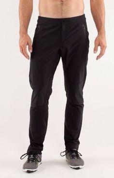 Lululemon Mens Chillstop Pants Soft Shell Front Fleece Back Black Size 40 | eBay