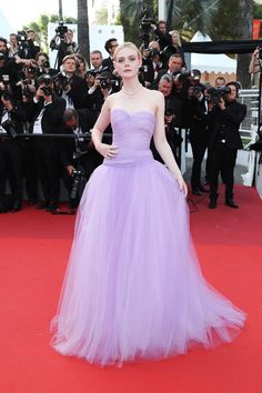 """Elle Fanning attends the """"The Beguiled"""" screening during the 70th annual Cannes Film Festival at Palais des Festivals on May 24, 2017 in Cannes, France."""