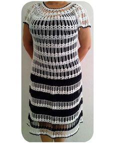 Receita Vestido Preto e Branco – Camila Fashion