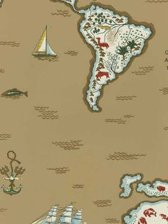 Expedition Novelty M//Desert - Pattern Number: LWP62186W - Book Name: Ralph Lauren Family Places - Key Wallcoverings Inc. - www.AmericanBlinds.com