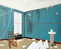 Farah Atassi Abandonned Office, 2010, huile sur toile, 160 x 190 cm