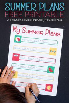Summer Plans Free Pr