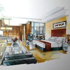 Interior Design For Living Room Interior Architecture Drawing, Interior Design Renderings, Architecture Concept Drawings, Drawing Interior, Interior Rendering, Interior Sketch, Interior And Exterior, Architecture Design, H Design