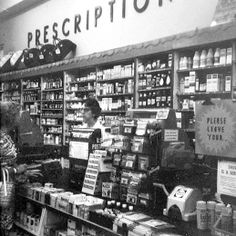 Pharmacy Counter at Peoples Drug Store which had been on the square in downtown York, PA Walgreens Photo Coupon, Wish Board, York Pa, Old Pictures, Pharmacy, Pennsylvania, Drugs, Photo Wall, Drug Store