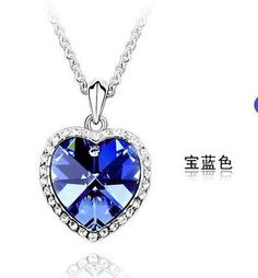 PARA V 1.99 - pieza GRATIS - envio  CN42  Zircon heart Titanic ocean Heart  sweater chain  Necklace wholesale  for women