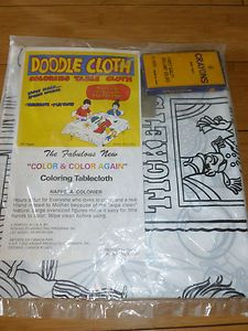 Doodle Cloth- Coloring Table Cloth; used to love this!