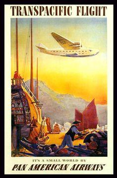 Pan American Airways Far East 1920s - Print